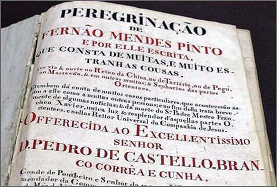 O livro de Fernão Mendes Pinto