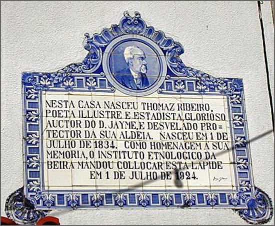 Há 184 anos Tomás Ribeiro nasceu em Parada de Gonta (Tondela)