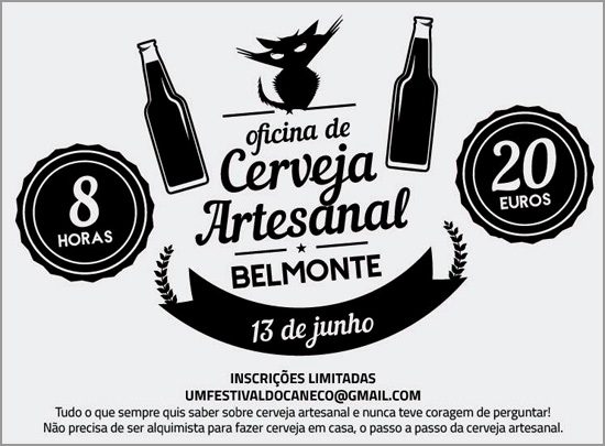 Oficina de Cerveja Artesanal - Belmonte - Capeia Arraiana