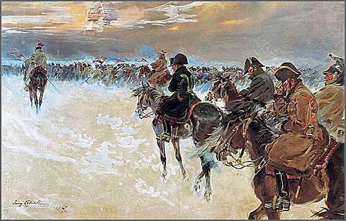 As tropas de Napoleão da fatídica campanha da Rússia