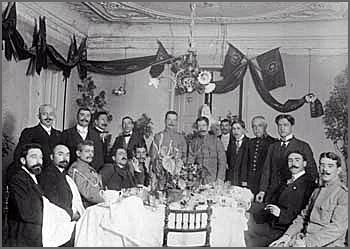 Jantar oferecido ao ministro da Guerra, em 1913, na Guarda - João Soares é o 3º a contar da direita.