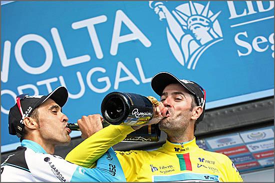 O vencedor da etapa e o novo Camisola Amarela da Volta