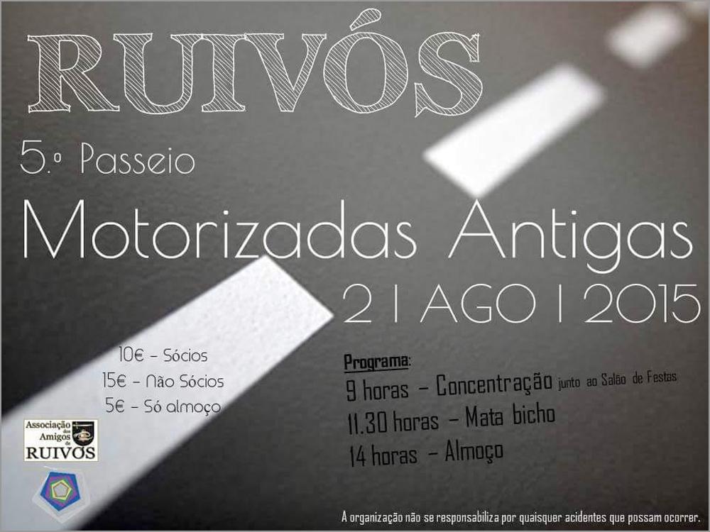 Passeio Motos Antigas 2015 - AAR - Associação Amigos Ruivós - Capeia Arraiana