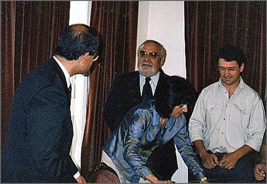 Sampaio Lopes (de óculos e barba) no exercício das funções de Governador Civil