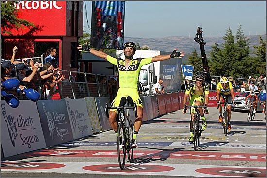 Filipe Cardoso festeja a vitória no alto da Senhora da Graça