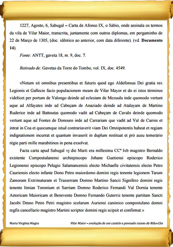 Nascimento de Vilar Maior - 1227 - Capeia Arraiana