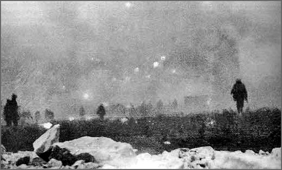 Há 100 anos, em Loos, as tropas inglesas avançaram dentro de uma nuvem de gás (foto do Imperial War Museum)