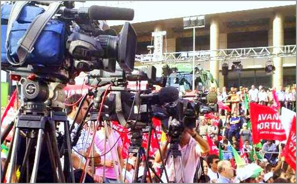 Televisões na Campanha Eleitoral 2015 - João Gabriel - Repórter ENG - Capeia Arraiana