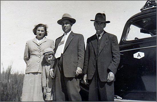 Quadrazenhos em 1950 (foto de Henrique Nabais)