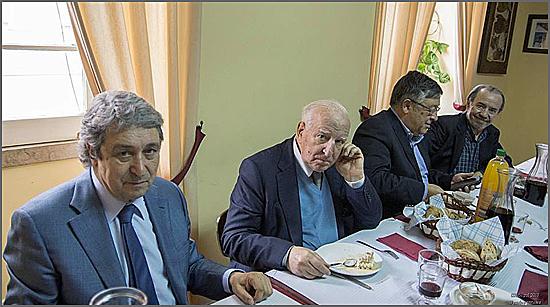 Pinto Monteiro, Eduardo Lourenço, Pina Monteiro e Adérito Tavares na Casa do Concelho do Sabugal
