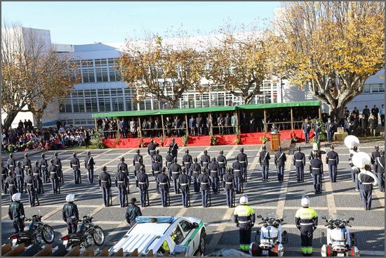 Parada comemorativa em Seia