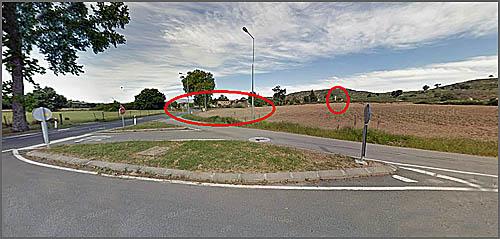 A quinta vista da entrada da estrada para Sortelha e de onde se vê a cruz