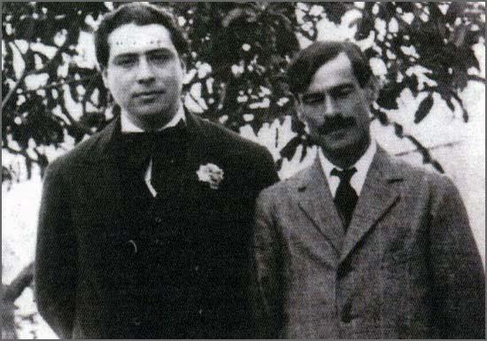 Leonardo Coimbra morreu há 80 anos - na foto (à esquerda) com Teixeira de Pascoaes