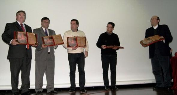 António Robalo, Paulo Leitão Batista, Carlos Alberto Gomes, António Dionísio e pe. Manuel Igreja Dinis