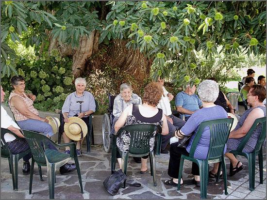 Utentes do Lar de Malcata - o apoio aos idosos é de primordial importância