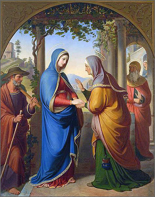 A Visitação de Nossa Senhora à Santa Isabel, mãe de S. João Baptista.
