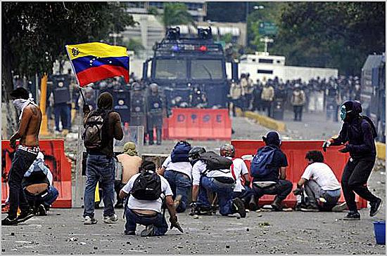 A Venezuela está a ferro e fogo