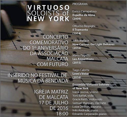 Concerto na igreja matriz de Malcata