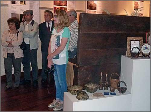 Momento da inauguração da exposição