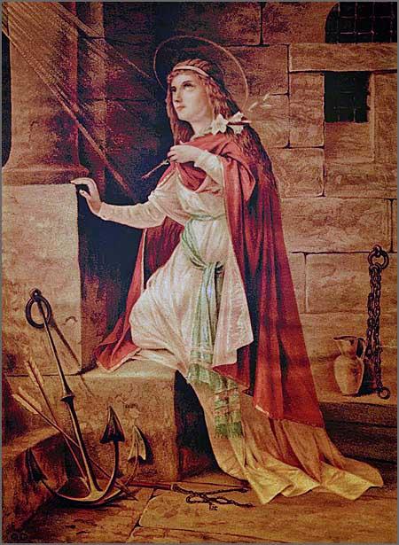 A Mártir Santa Filomena