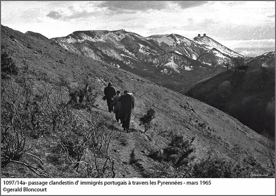 Emigração a «Salto» para França através das montanhas