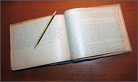 Salatra anotou no diário que Maria Aldina abandonou o lar