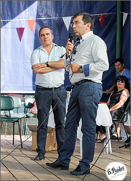 Manuel Barros, presidente da Junta, e Vítor Proença, vereador da Câmara