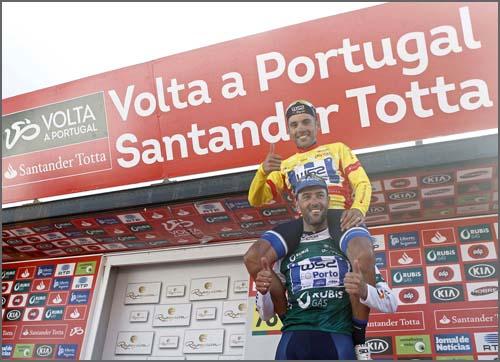 O vencedor da etapa e o Camisola Amarela