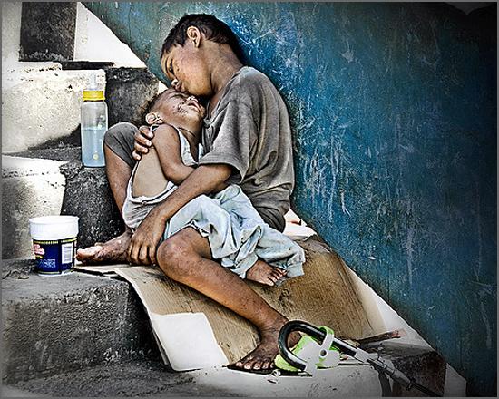 As crianças e a pobreza
