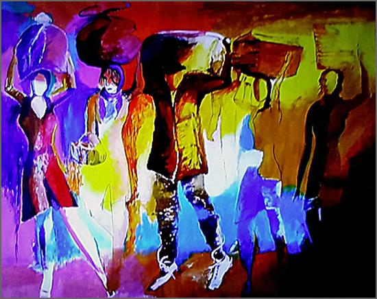 Outra Babilónia – Pintura de Alcínio