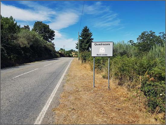 A estrada de Quadrazais
