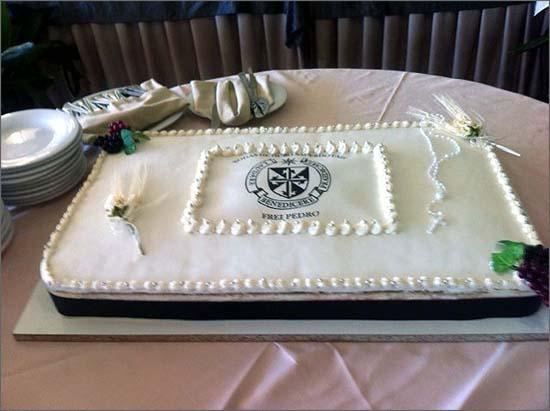 O bolo evocativo das bodas sacerdotais
