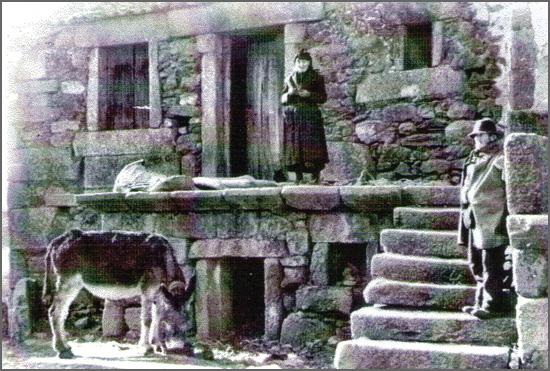 Quadrazais - a casa, o burro, a mulher e o próprio Cometa