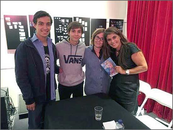 A autora do livro (à direita) com amigos sabugalenses