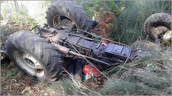 Acidente com tractor agrícola
