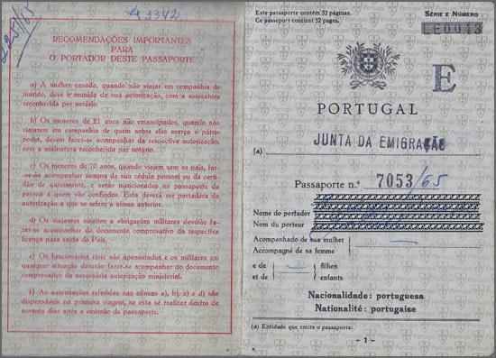 Passaporte de 1965
