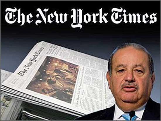 Carlos Slim é o maior accionista do New York Times