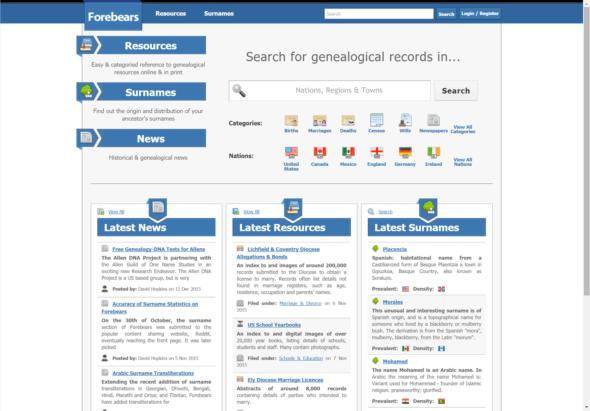 Forebears - Base de Dados sobre apelidos no Mundo - Capeia Arraiana