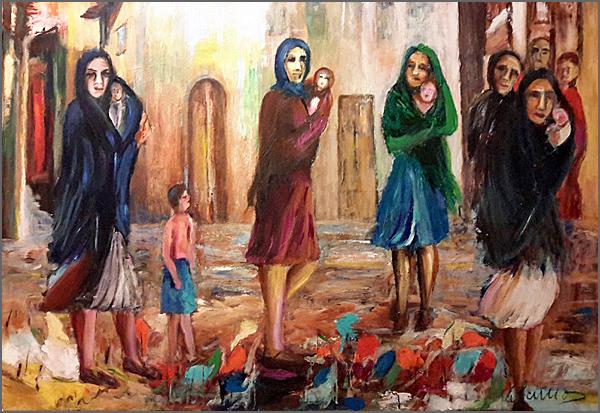 Sociedade do Amor ou do Ódio – Pintura de Alcínio
