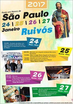 Festa São Paulo 2017 - Ruivós - Sabugal