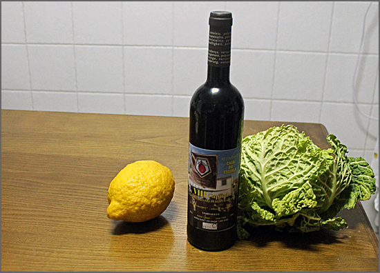 O almoço de bucho raiano vai ser acompanhado pelo vinho 2.5