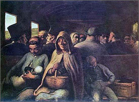 O vagão de terceira classe,  de Honoré Daumier