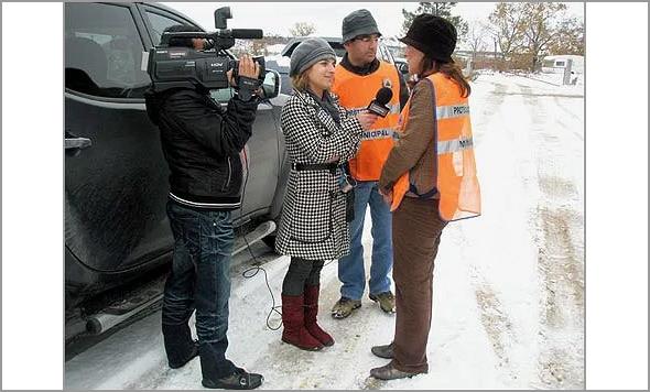 Responsáveis da Proteccção  Civil do Sabugal entrevistados pela LocalVisãoTv da Guarda