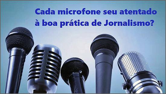 Os microfones da comunicação social