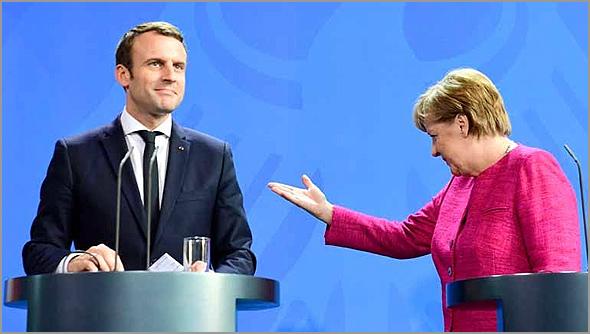 Macron & Merkel - António Emídio - Capeia Arraiana