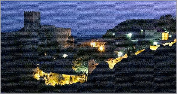 Aldeia Histórica de Sortelha à noite - Capeia Arraiana