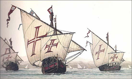 Vasco da Gama navegou para Sul e depois para Ocidente para apanhar os melhores ventos