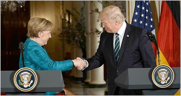 Merkel e Trump - António Emídio - Capeia Arraiana
