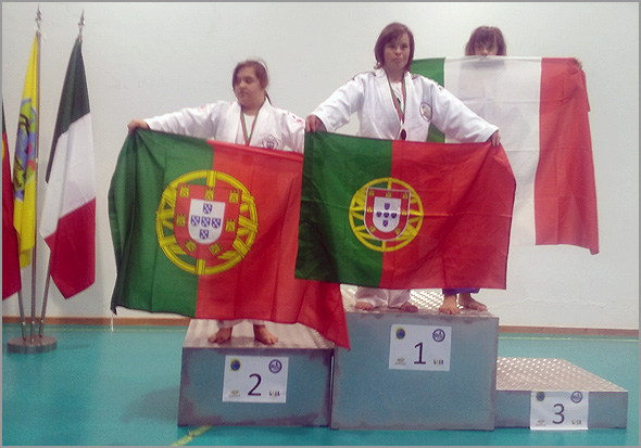Maria Ribeiro, Bicampeã nacional de judo em síndrome de Dawn na categoria de -57kg - Sporting Clube Sabugal - Capeia Arraiana