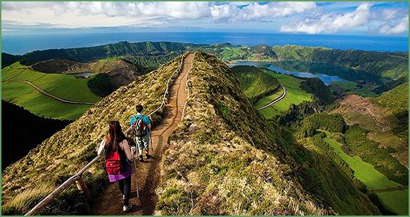 Miradouros e trilhos pedestres nas Ilhas dos Açores